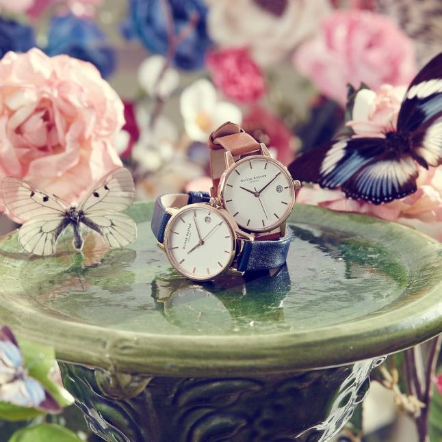 Womens Navy & Rose Gold The Dandy Watch