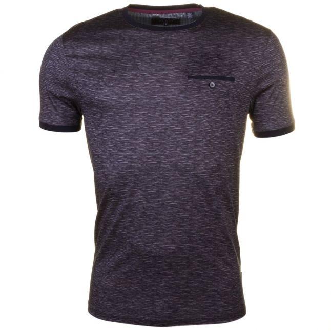 Mens Charcoal Maso Spacedye S/s Tee Shirt