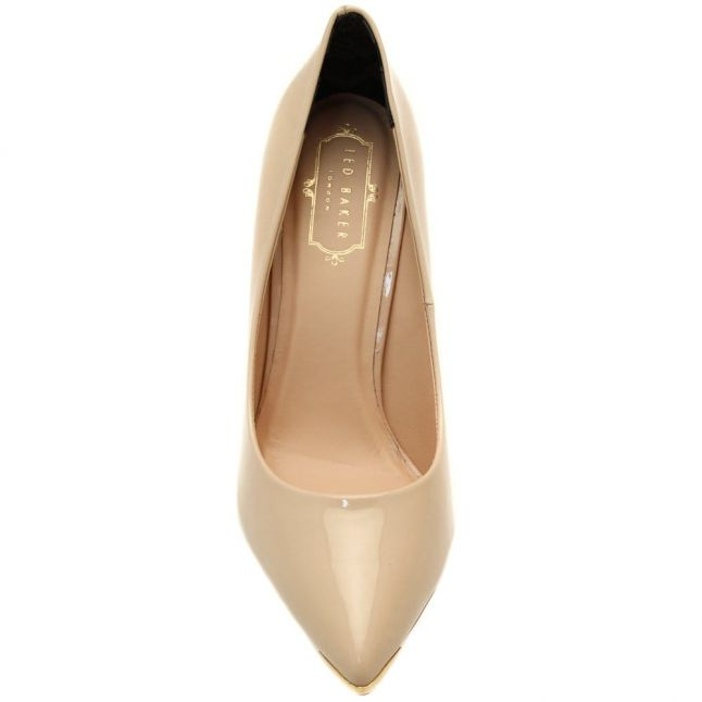 Womens Nude Neevo 4 Patent Court Shoes