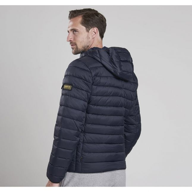 Mens Navy Ouston Hooded Quilted Jacket
