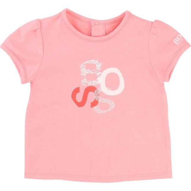 Baby Pink Logo S/s Tee Shirt