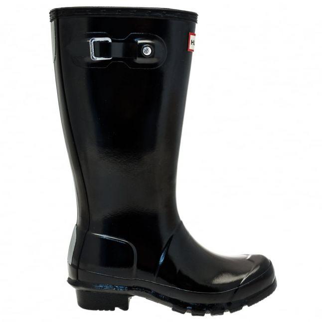Kids Black Original Gloss Wellington Boots (12-4)