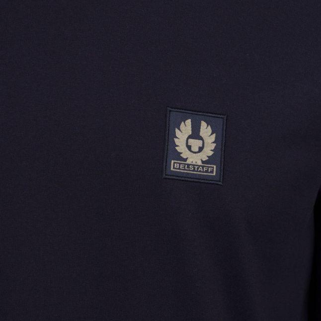 Mens Black Branded L/s T Shirt
