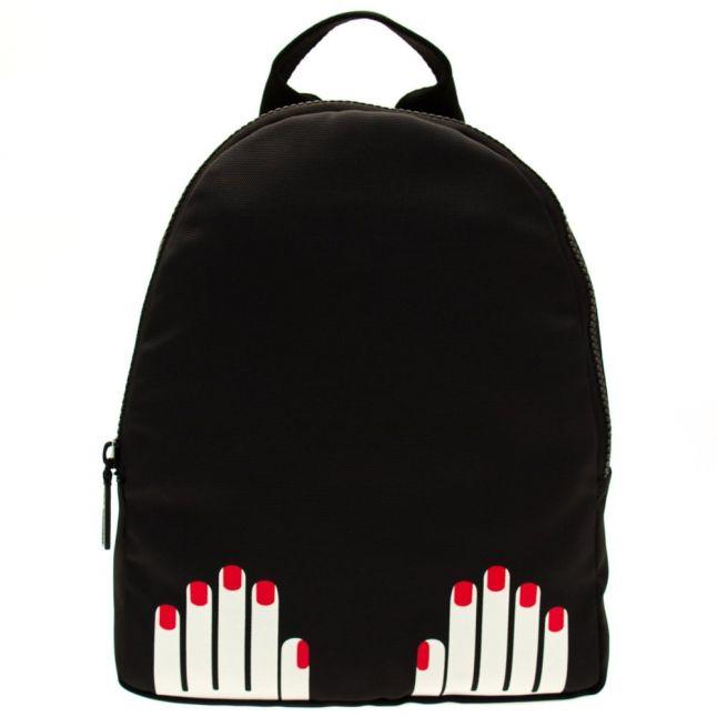 Womens Black Hands Nylon Backpack