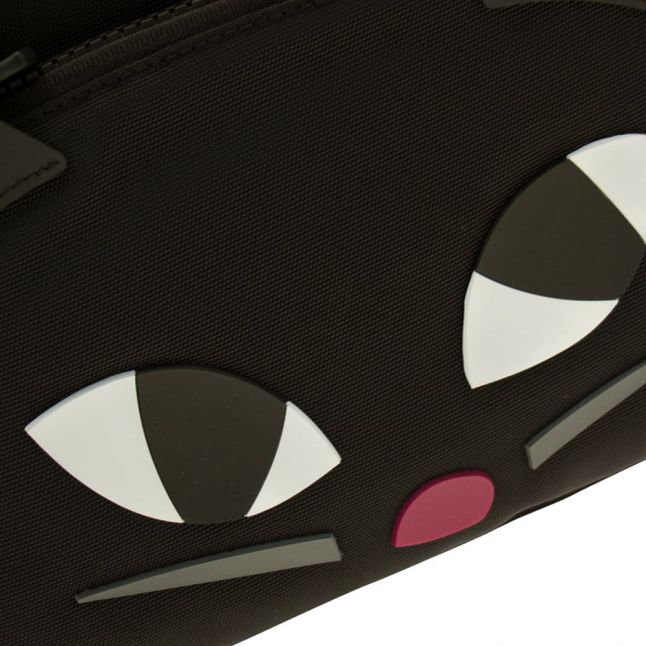Womens Black Kooky Cat Backpack