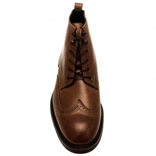 Mens Tan Harland Brogue Boots