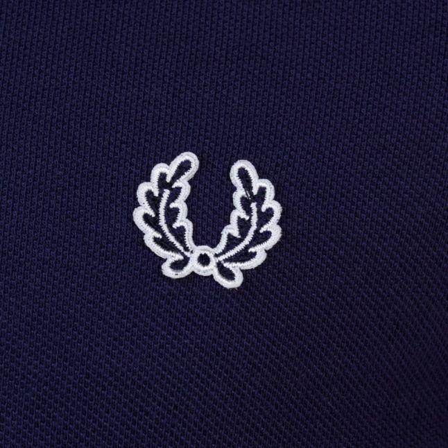 Mens Carbon Blue Taped Pique S/s Polo Shirt