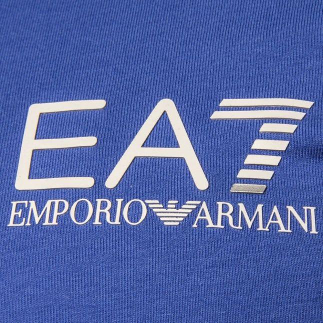 Mens Blue Training Core Identity S/s Polo Shirt