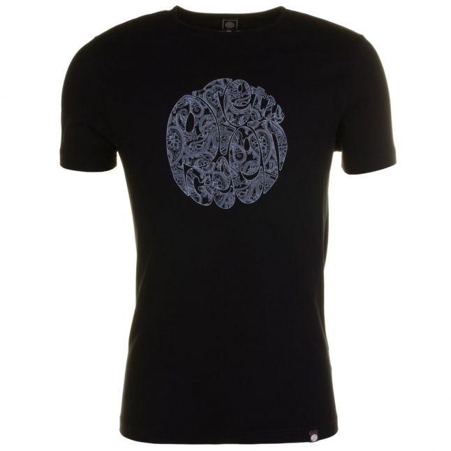 Mens Black Linear Logo S/s Tee Shirt