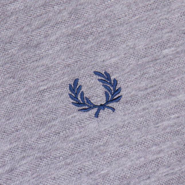 Mens Steel Marl Textured Stripe S/s Tee Shirt