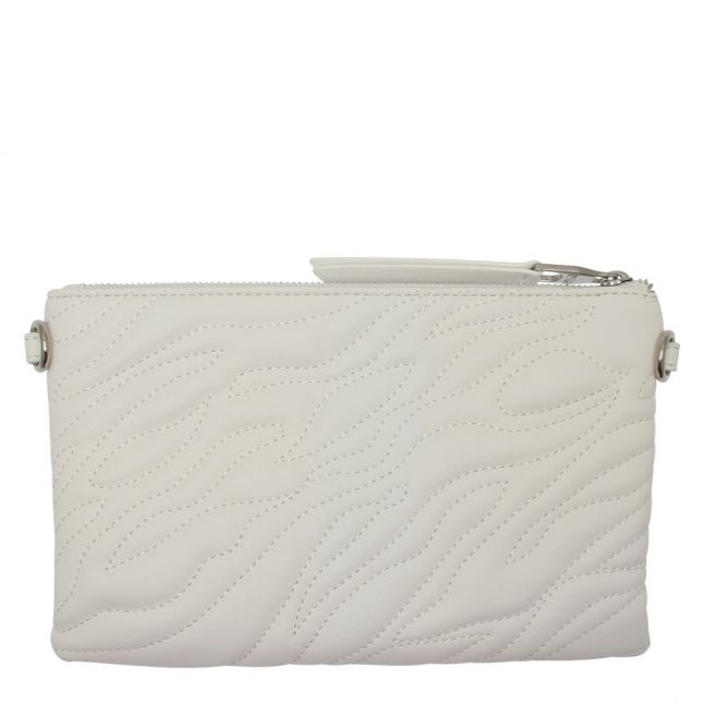 Womens White Animal Quilted Pouch Crossbody Bag