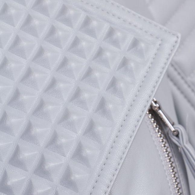 Womens Grey Gigi PU Jacket