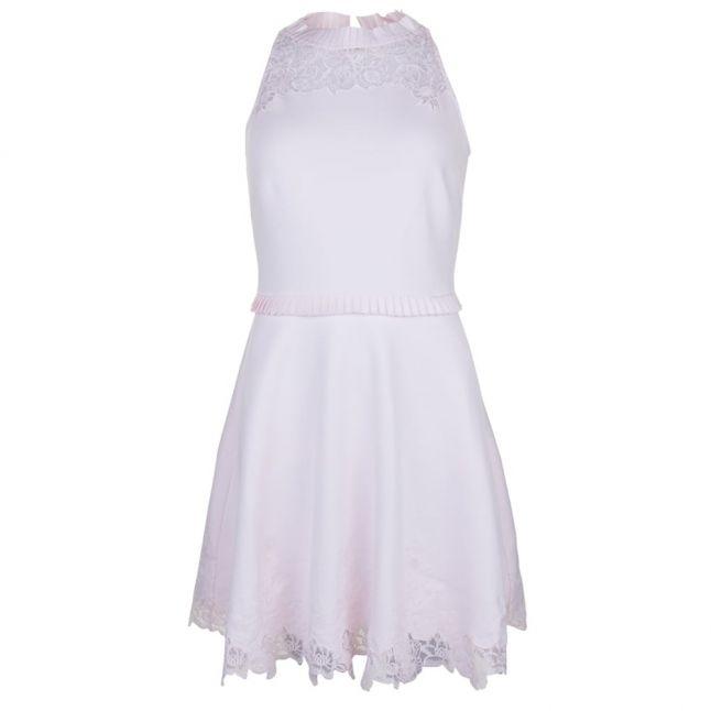 Womens Baby Pink Zaffron Skater Dress