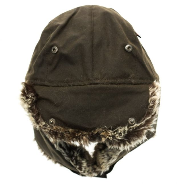 Lifestyle Mens Olive Hardwick Fur Waxed Trapper Hat