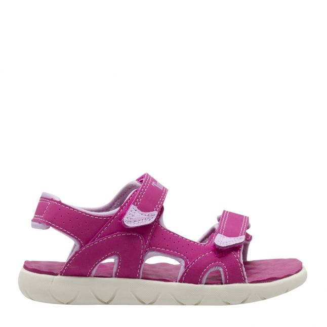 Youth Pink Perkins Row 2-Strap Sandals (31-35)