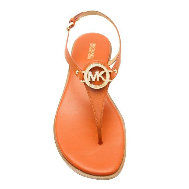 Womens Orange Lee Logo Sandals