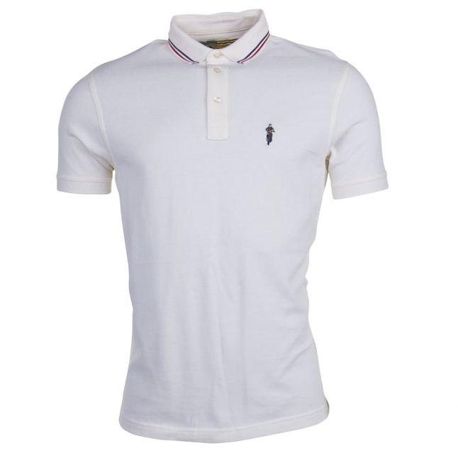 Steve McQueen™ Collection Mens White Rickson S/s Polo Shirt
