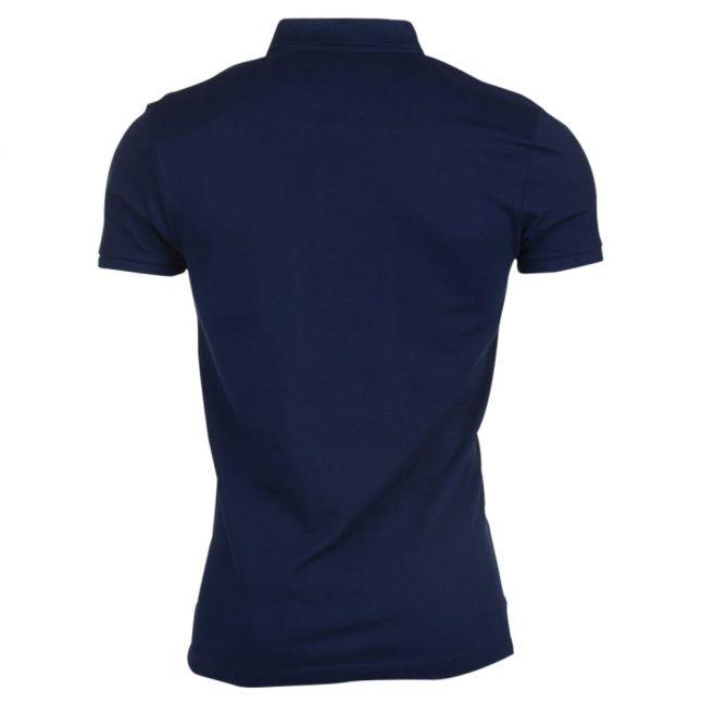 Paul & Shark Mens Navy Shark Fit S/s Polo Shirt