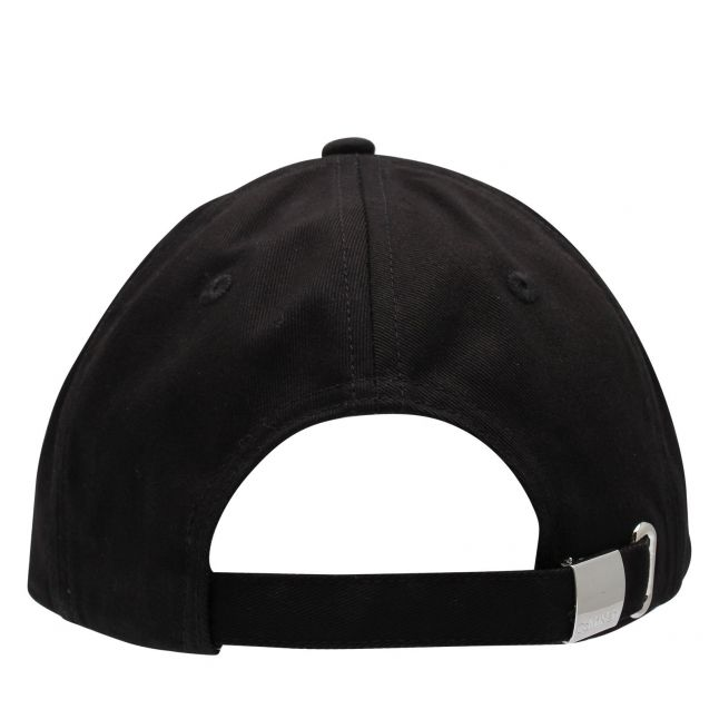 Womens Black Large Embroidery Logo Cap