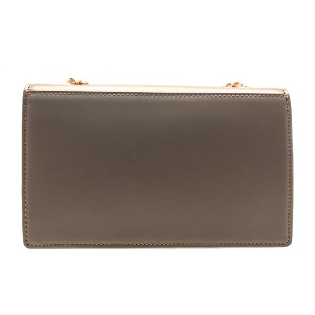 Womens Grey Shazia Metallic Evening Bag
