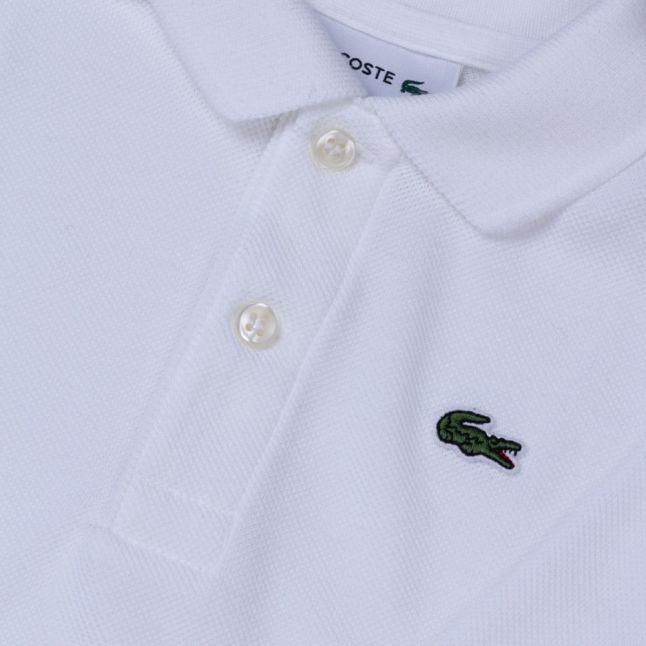 Baby White & Grey L/s Polo Shirt Set (1yr)