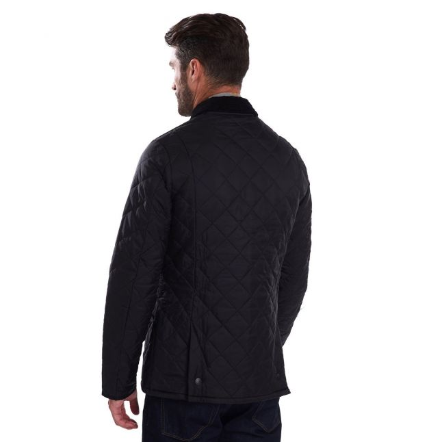 Mens Black Heritage Liddesdale Quilted Jacket