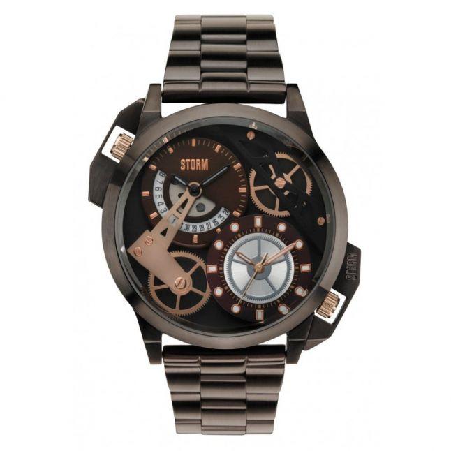 Mens Brown Dualon Watch