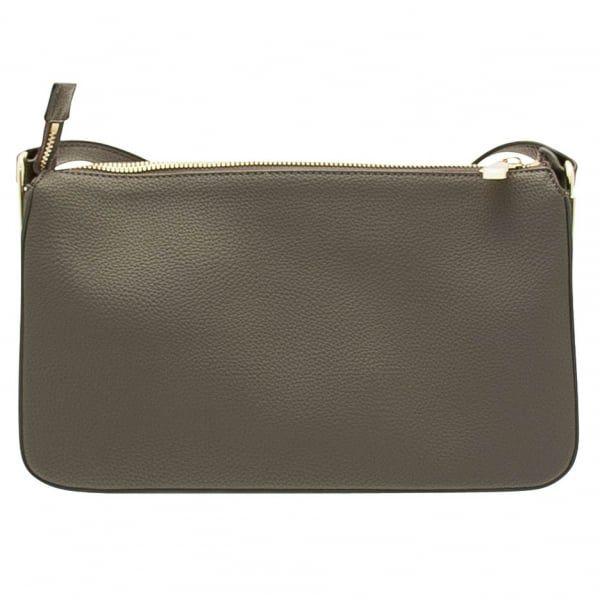 Womens Grey Branded Shoulder Bag