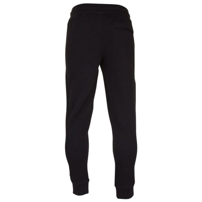 Mens Black Cuffed Regular Fit Jog Pants