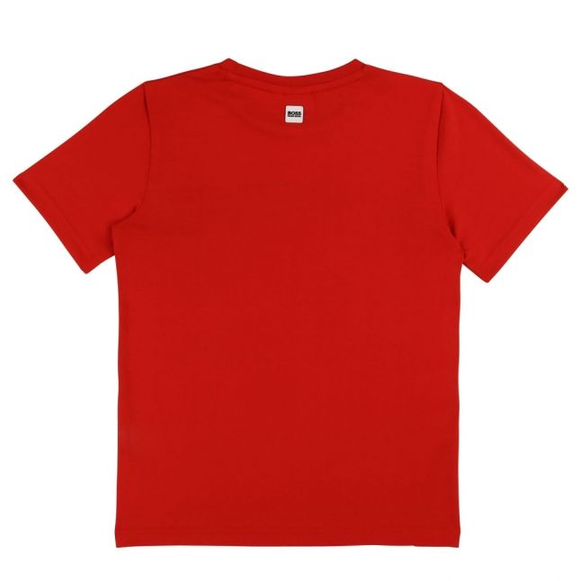 Boys Red Big Logo Colourblock S/s T Shirt