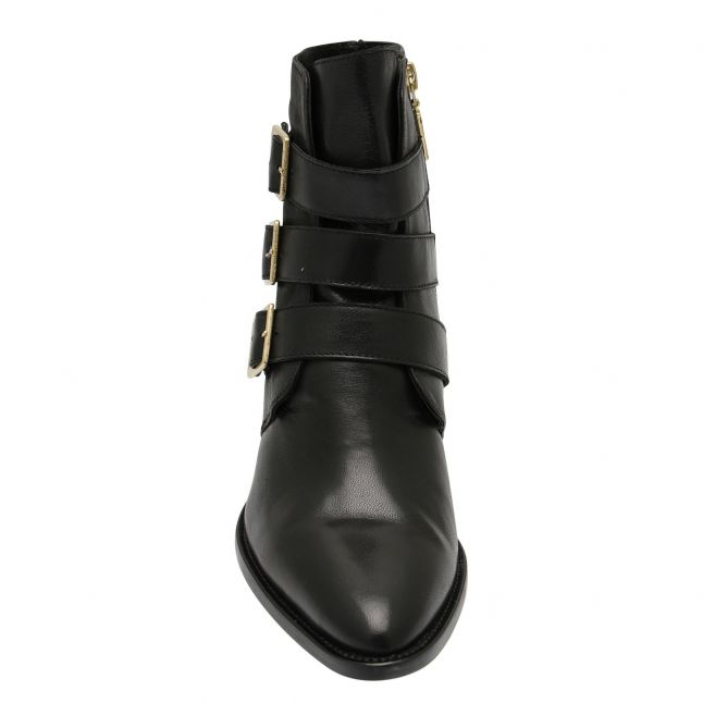 Womens Black Ruby Strap Boots