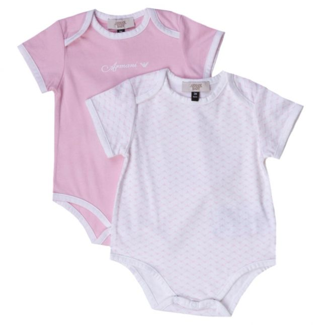 Baby Pink 2 Pack Bodysuits