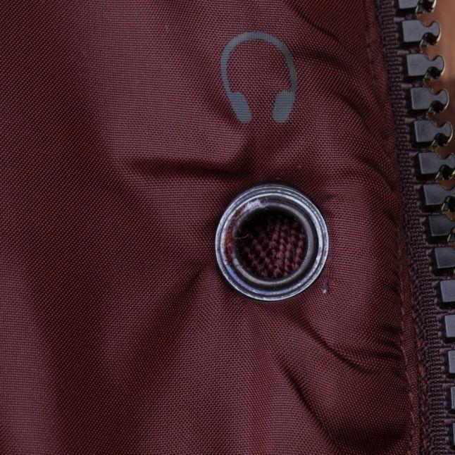 Mens Dark Bordeaux Whistler Hooded Bomber Jacket