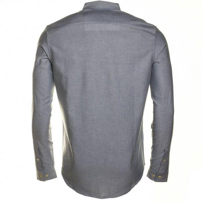 Mens Captains Blue Oxford Slim Fit L/s Shirt