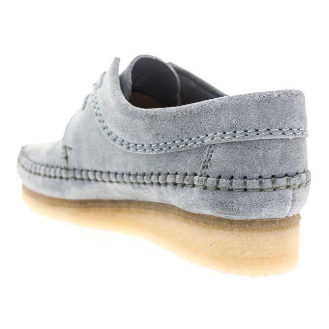 Womens Blue & Grey Suede Weaver Shoes