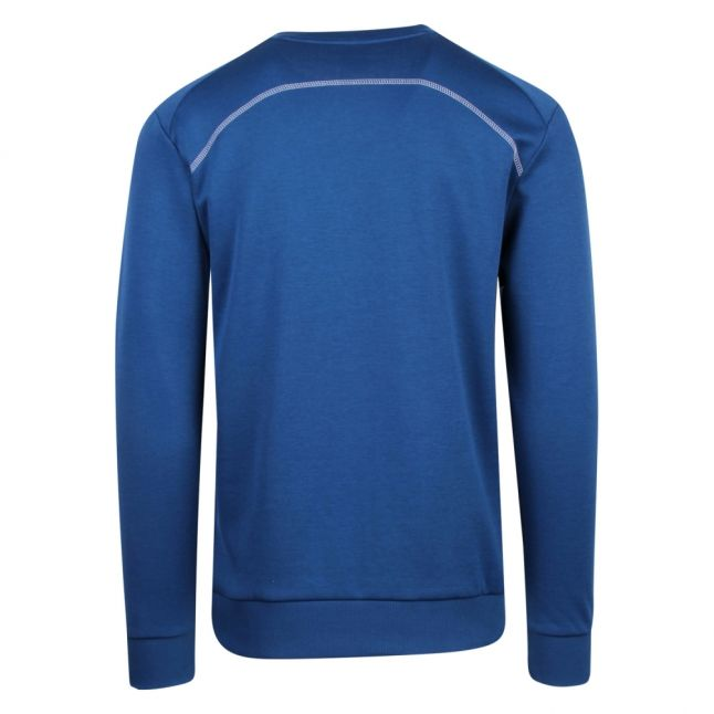 Athleisure Mens Blue Salbo Crew Sweat Top