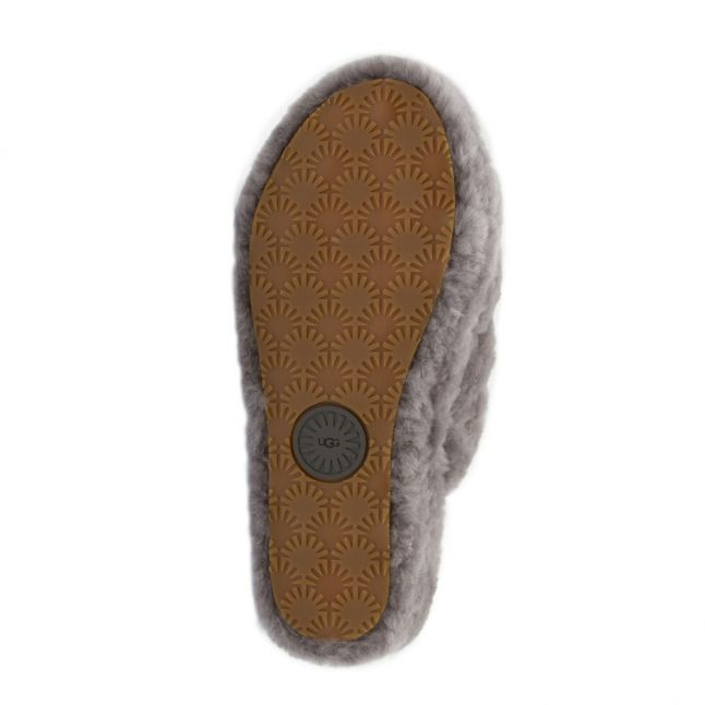 Womens Charcoal Fluff Yeah Slide Slippers
