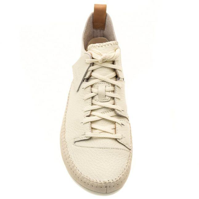 Mens White Leather Trigenic Flex Trainers