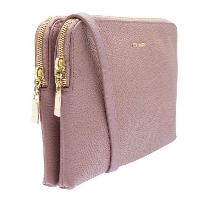 Womens Pink Ciarraa Soft Double Zip Crossbody Bag