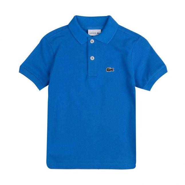 Boys Ibiza Blue Branded S/s Polo Shirt