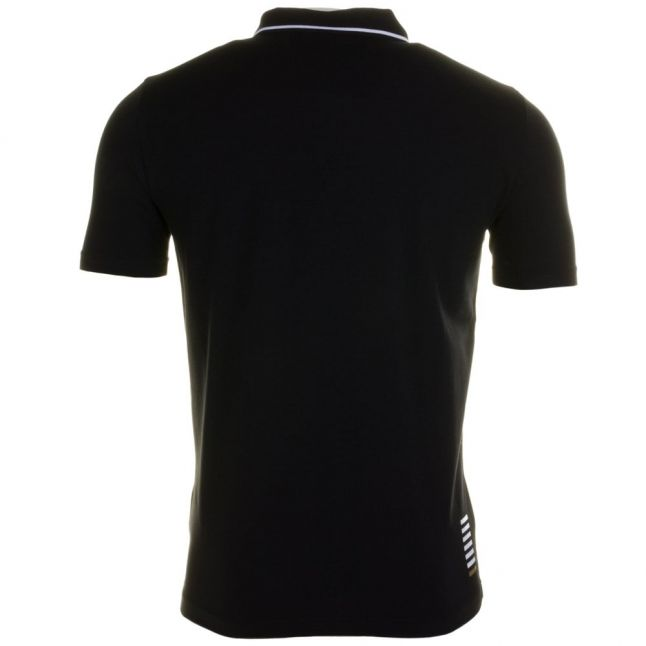 Mens Black Training Core Identity Stretch S/s Polo Shirt