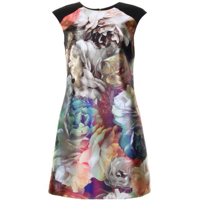 Womens Black Helaina Technicolour Bloom Shift Dress