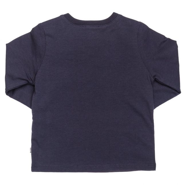Baby Navy Branded L/s Tee Shirt