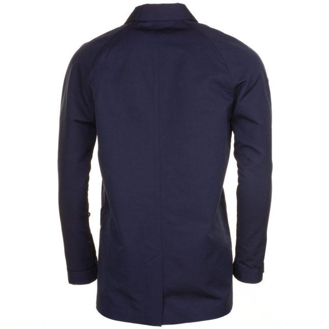 Mens Blue Granite Bonded Caban Mac Jacket