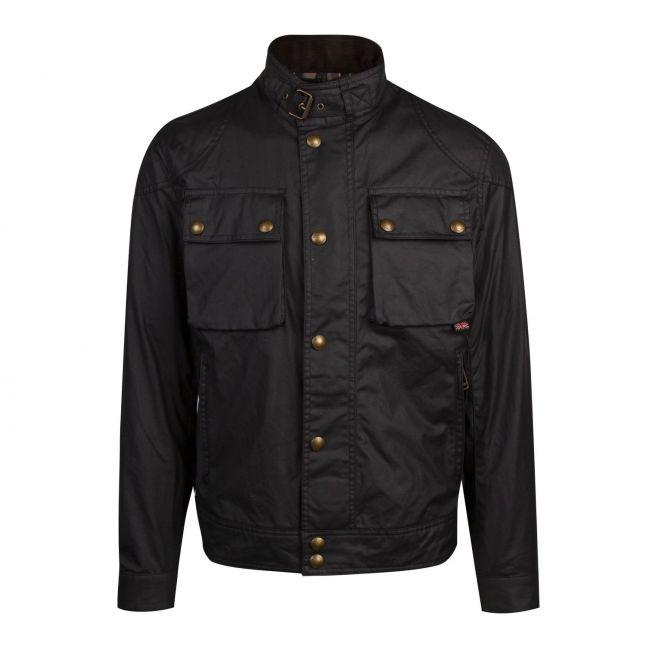 Mens Black Racemaster 6oz Waxed Jacket