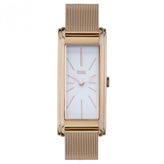 Womens White Dial Rose Gold Silka Watch