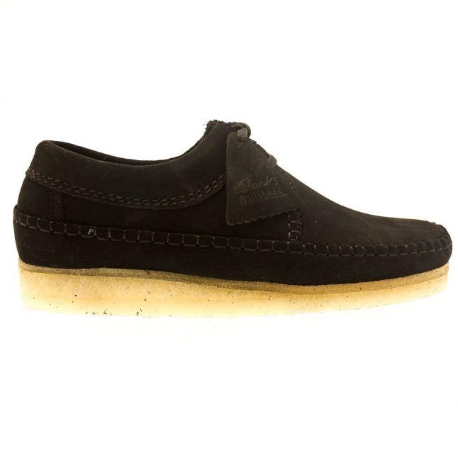 Mens Black Suede Weaver Shoes