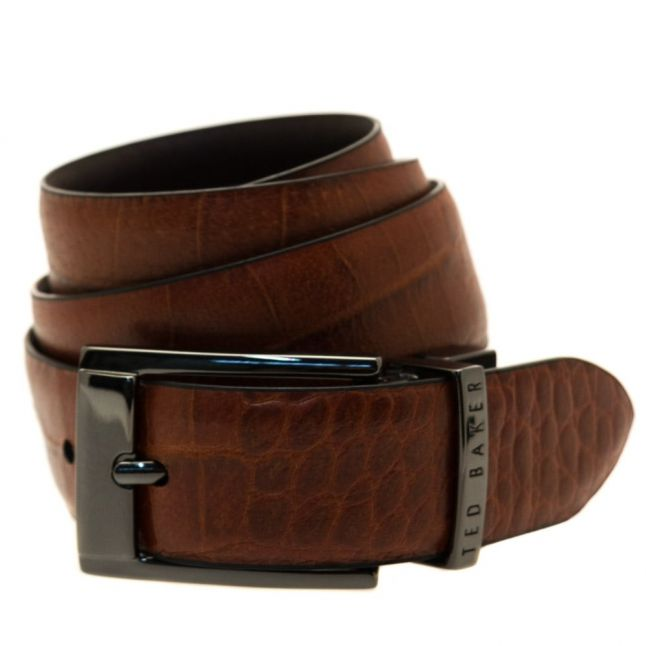 Mens Chocolate Zazza Reversible Belt