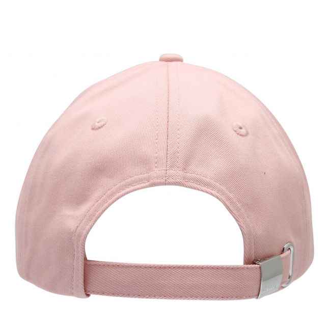Womens Silver Pink Large Embroidery Logo Cap