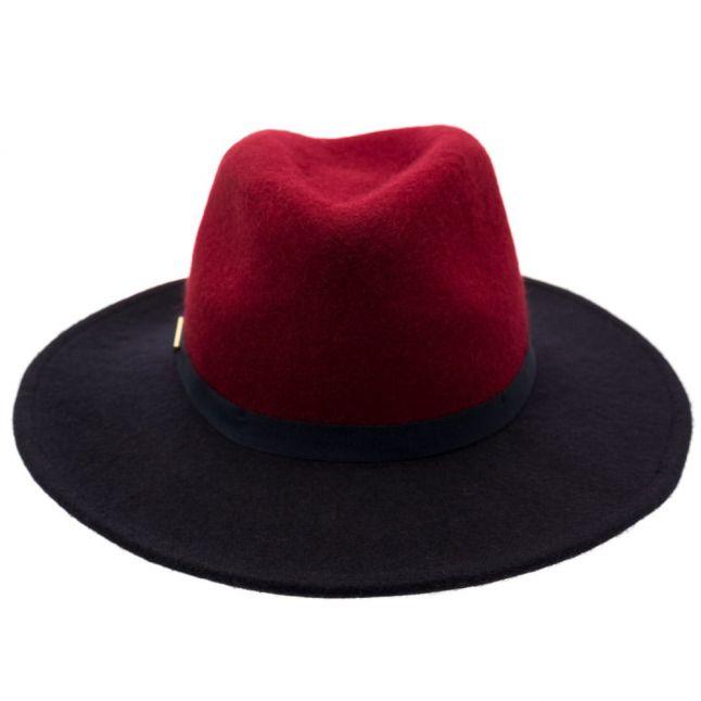 Womens Grape Febee Wool Fedora Hat